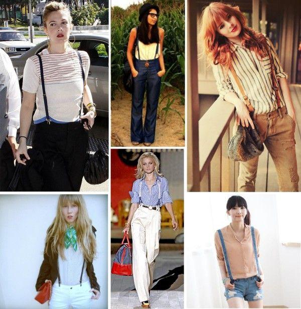 image of womens suspender fashion trend