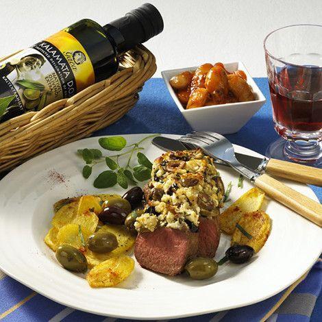 Herzhhafte Lammlachse mit knuspriger Schafskäse-Kruste und Gaea Olivenöl. #gaea