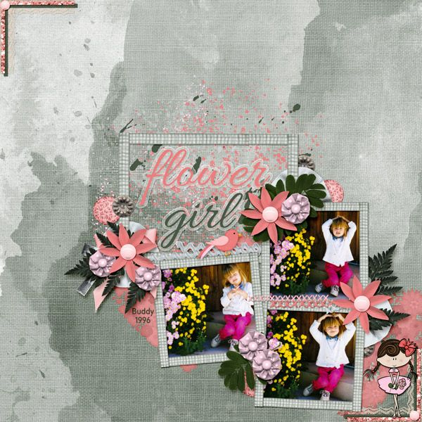 This is for Dae Design's April 2017 Scraplift Challenge.  It is a lift of my page Travel-See-Learn  I used Flower Girl by Dae Designs.