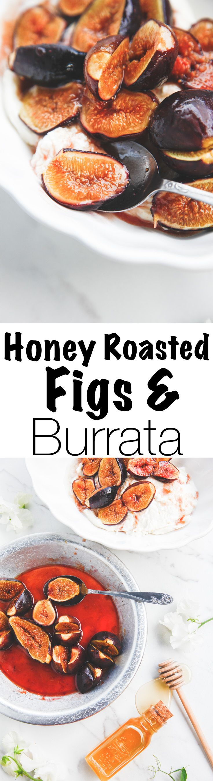 Enjoy an elegant but easy summer dessert with this recipe for Honey Roasted Figs and Burrata. Impressing company has never been easier! Via @thebrooklyncook
