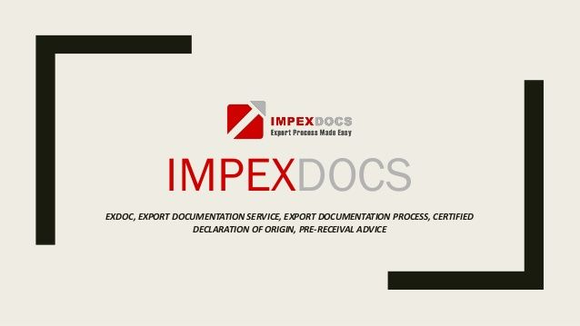 Online Export Documentation software Impex Docs has a software - is receival a word