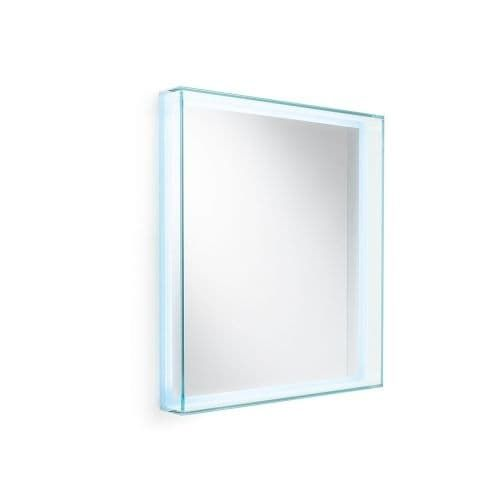"WS Bath Collections Speci 5682 27-1/2"" x 31-1/2"" Rectangular Wall Mounted Framed Mirror with LED Lighting, Red rust"