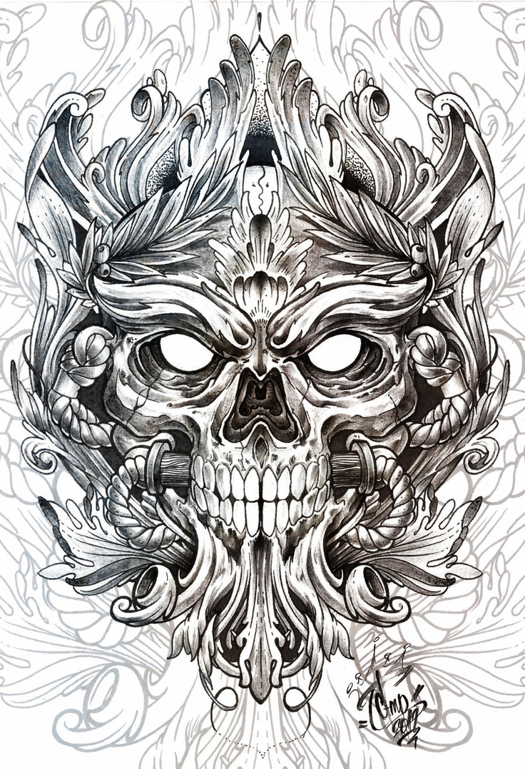 Pin lovi poe for tattoo pictures to pin on pinterest on pinterest - Skulls By Andrey Popov Via Behance Find This Pin