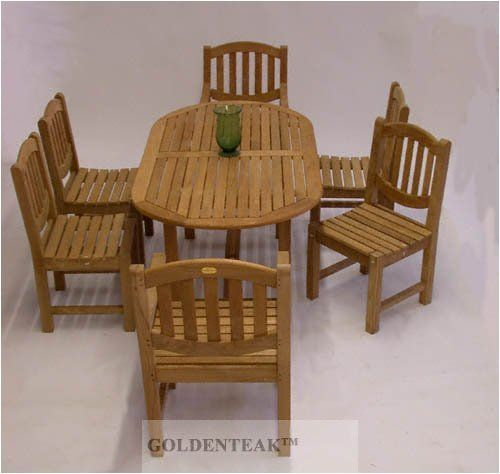 Solid Teak  Sturdy set with an Oval motif  Oval Table 43 W X 67 L  2 Boston  Chairs with Arms  4 Boston Chairs without arms  Table has umbrella hole  48 best Garden   Patio Furniture   Accessories images on Pinterest  . Outdoor Dining Table No Umbrella Hole. Home Design Ideas