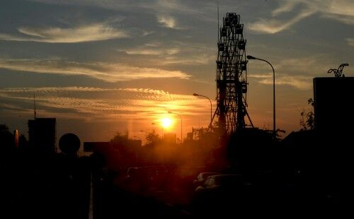 A sunset glow in Phnom Penh, Cambodia