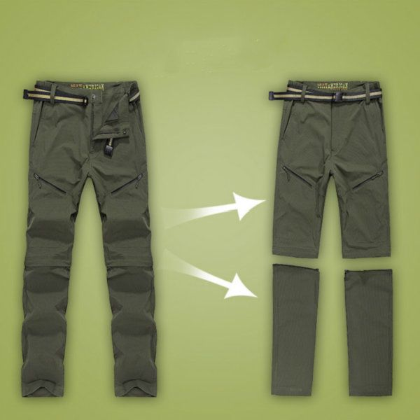 Mens Spring Summer Outdoor Pants Detachable Quick-drying Sport Shorts