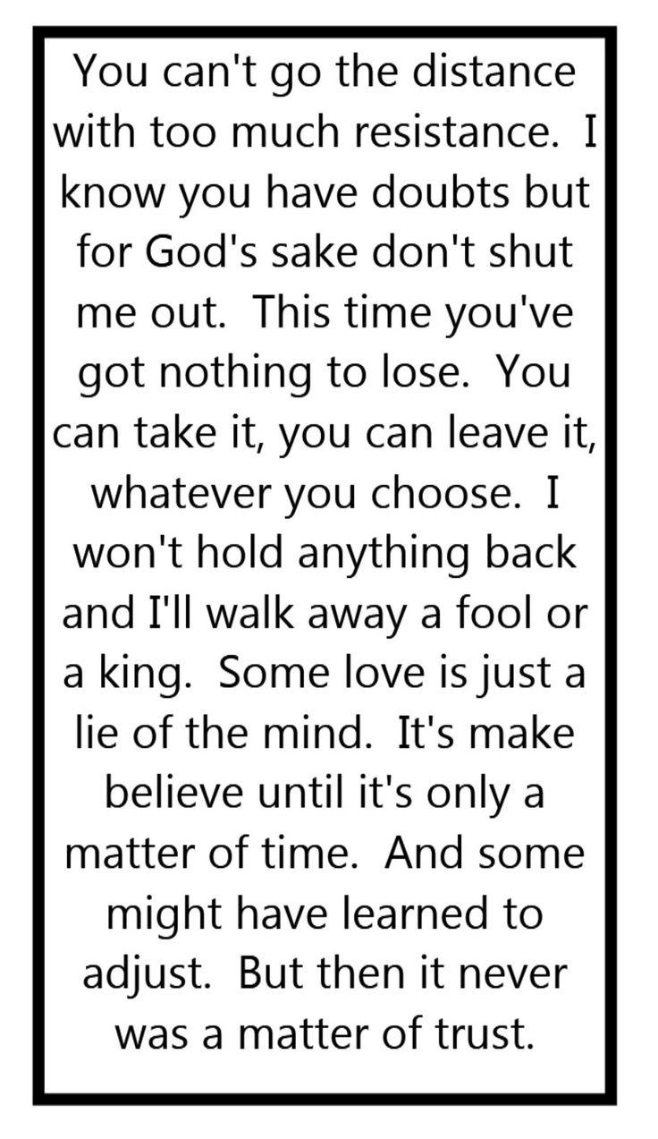 Billy Joel - A Matter of Trust - This is one of my very favorite Billy Joel songs.  Song lyrics, songs, music lyrics, song quotes, music quotes