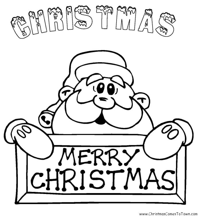 santa coloring pages free christmas coloring pages - Christmas Pages Color Printable