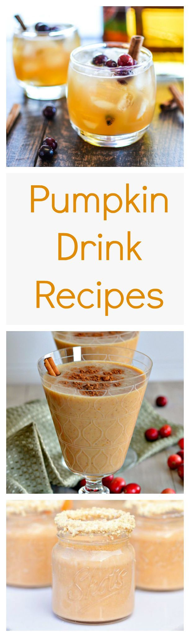 Don't even think about waiting until Halloween. The time to toss pumpkin in your blender is right now to enjoy these pumpkin drink recipes--some boozy and some without alcohol.