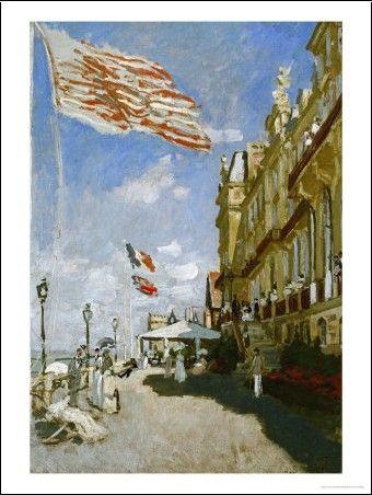 Claude Monet - Hotel Des Roches Noires, Trouville, 1870