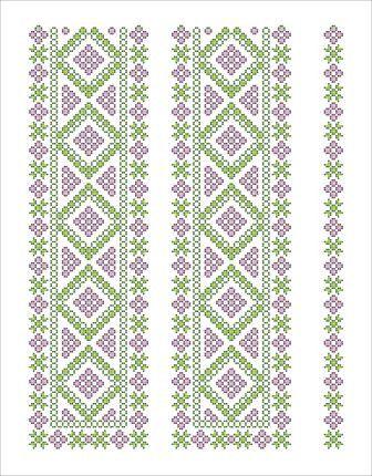 Схема орнамента для вышивки