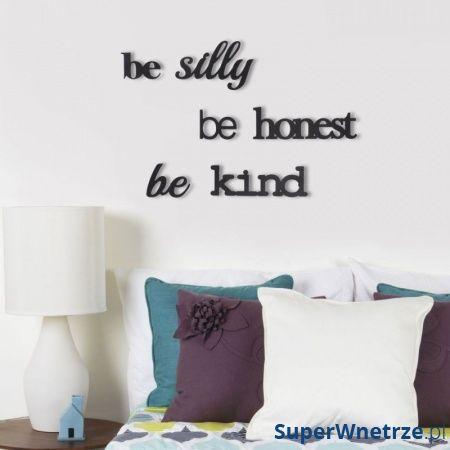 Dekoracja ścienna Be Honest Be Silly Be Kind Umbra Mantra 470786-040