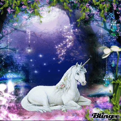 Fantasy Forest Unicorn Picture #130123111 | Blingee.com