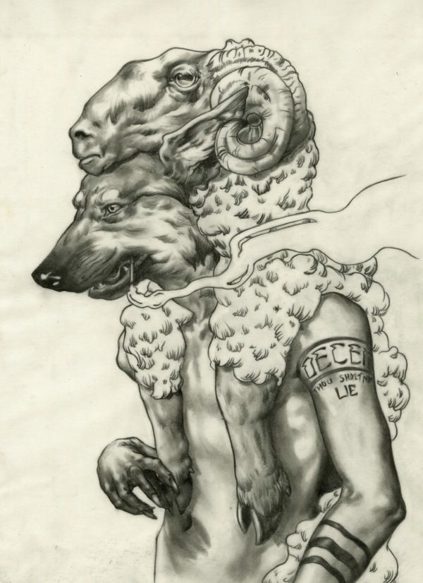 Wolf in Sheep's Clothing by Spencer Sheahan, via Behance
