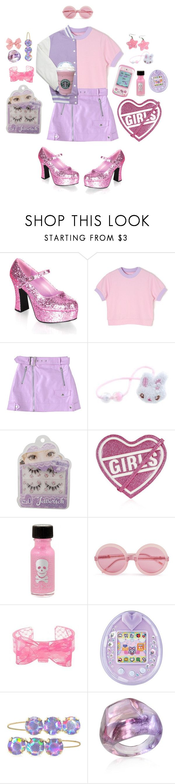 """Girls On Film"" by cuteghostie ❤ liked on Polyvore featuring INC International Concepts, Fit-to-Kill, Topshop, Hot Topic, Wildfox, Hello Kitty and Antica Murrina"