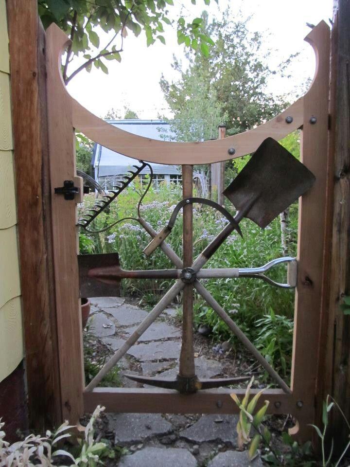 Great way to repurpose old garden tools.