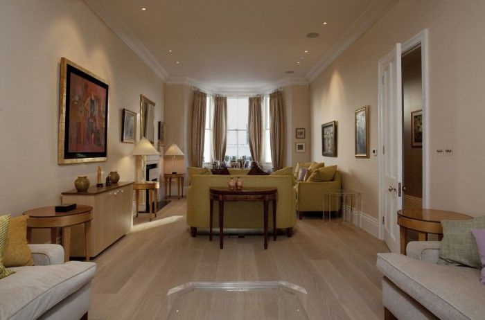 Brunswick Gardens - Haines Phillips Architects - RIBA Chartered Architects, London .   LIGHT WOOD FLOOR