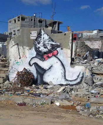 Destrucción en Gaza (Banksy)