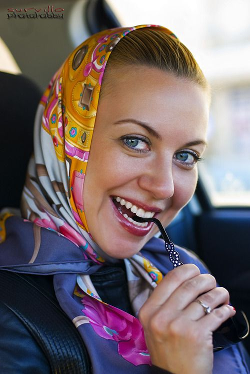 Head Scarf Tied Under Chin Scarf Style Pinterest