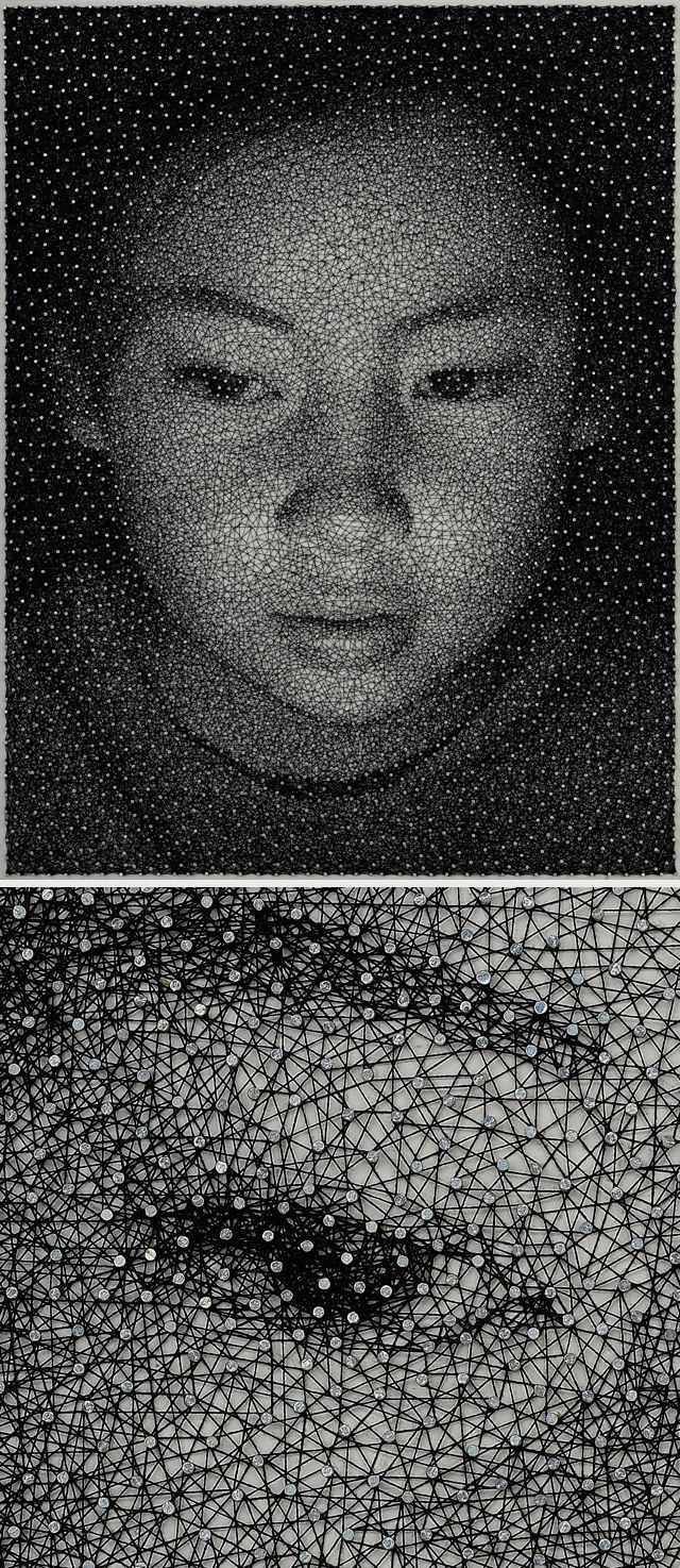 portrait by Kumi Yamashita Single thread, thousand nails. A million pieces make up the big picture of who a person is