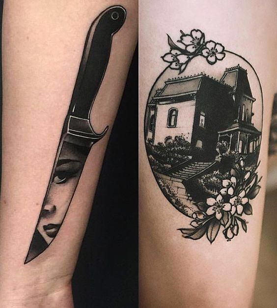Like the reflection in the knife