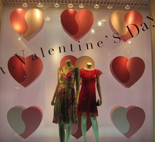 valentine's day store window