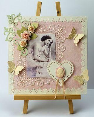 handmade card, Hobby House, Vintage