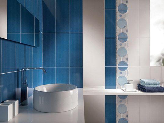 Синяя плитка в ванную, акция