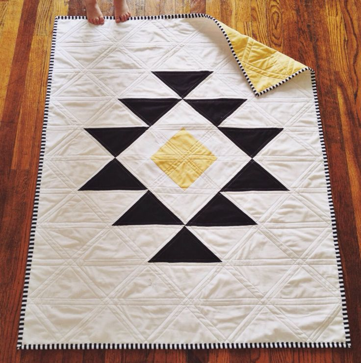 analogcraft:  Modern Aztec Toddler Quilt for USD 285.00 by radandhappy Follow me on Facebook and Twitter.