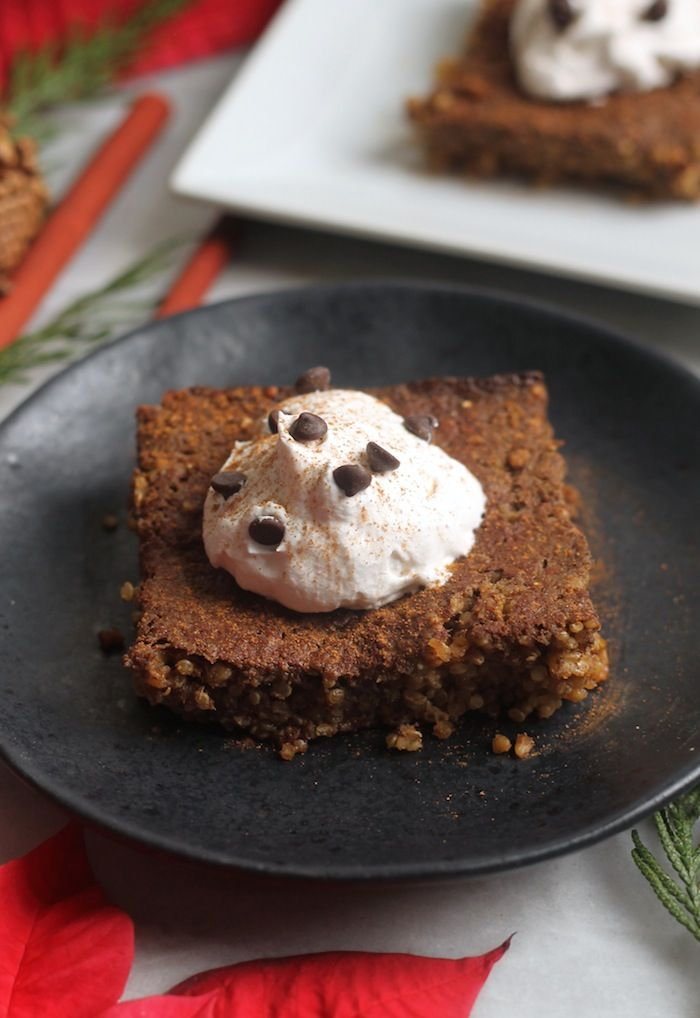 Gingerbread Baked Quinoa and Oatmeal...the perfect breakfast for Christmas Morning!