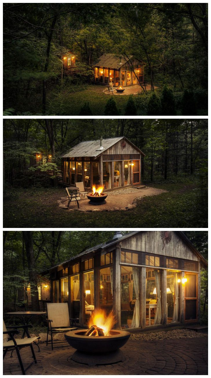 I would love to have something like this behind my house to use for entertaining or just relaxing. its the perfect size and I love the windows!