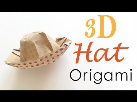 3d Origami Paper Hat Tutorial - Origami Kawaii〔#093〕 - YouTube