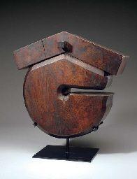 "Jizai-Kagi (Daikoku Style). Cypress Wood. Circa Early 20th Century. 19"" (48.2cm)."