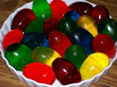 Use inexpensive plastic eggs to make these fun Jello Easter eggs.