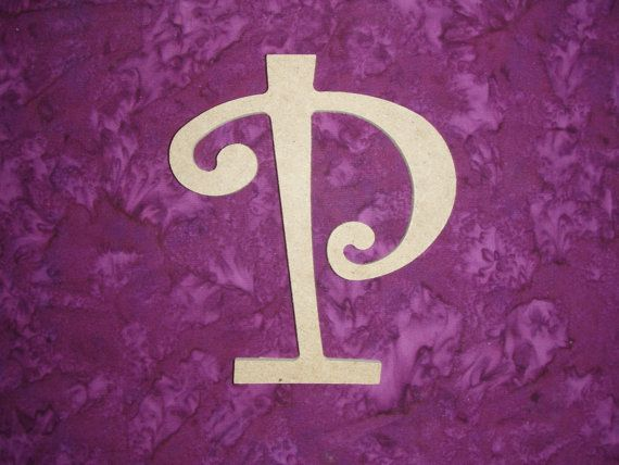 Unfinished Wood Letter P Wooden MDF Letters by ArtisticCraftSupply