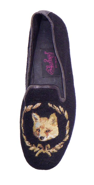 NEW YEAR'S EVE STYLE: Fox Needlepoint Loafers for Men