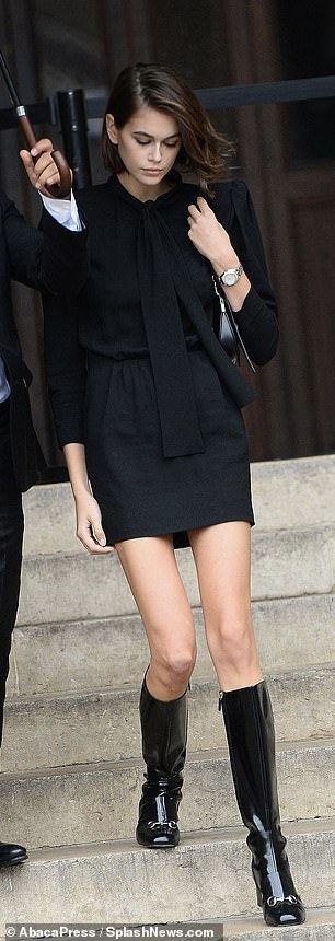 Kaia Gerber and Cindy Crawford exit Peter Lindbergh's funeral in Paris Kaia Gerber joins her mother Cindy Crawford as they exit Peter Lindbergh's funeral in Paris | Daily Mail Online