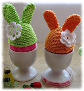 Crocheted Easter Bunny Egg Warmer
