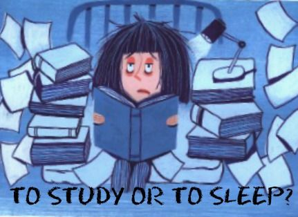 how to stay up and study