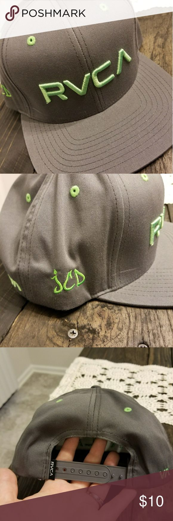 RVCA Snapback hat RVCA snapback hat, this has custom embroidery on the side. It is initials. RVCA Accessories Hats