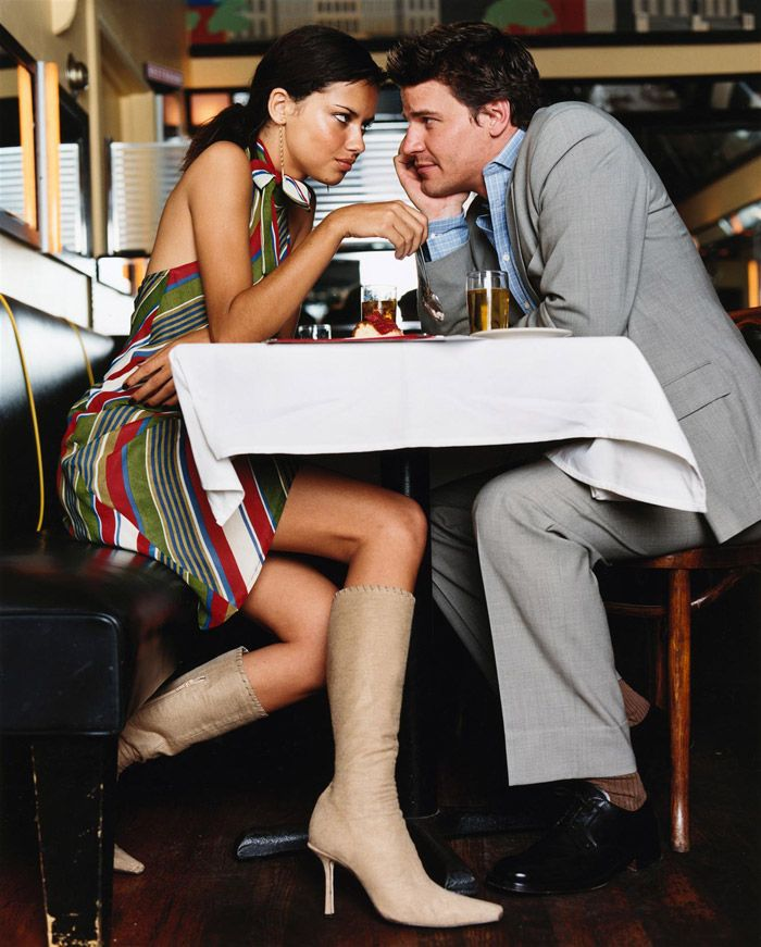 Adriana Lima & David Boreanaz | Photography by Pamela Hanson | For Glamour | 2000