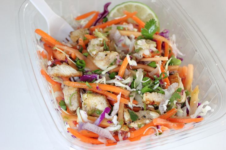 This version of Trader Joe's citrus chicken salad tastes better than the original and is just as low in calories. A mix of digestion-relieving cabbage and papaya and hydrating, antioxidant-rich daikon — along with a tangy, Thai-inspired citrus