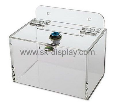 Plexiglass manufacturer customize clear acrylic display boxes with lids DBS-235