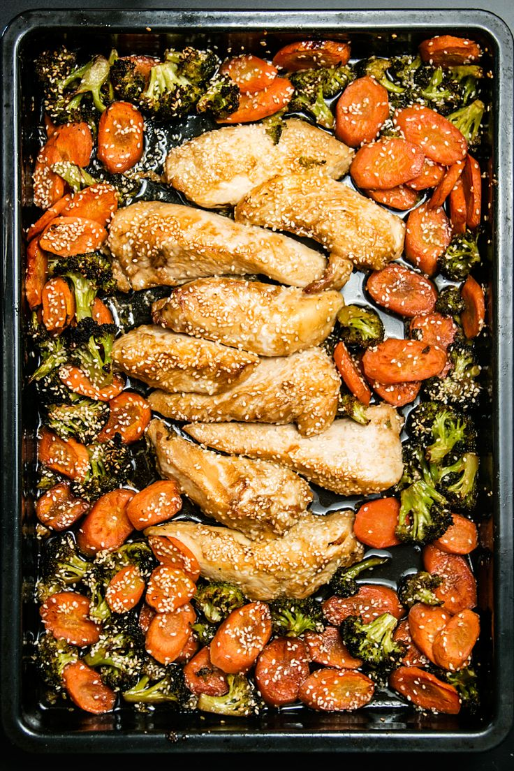 Sheet pan chicken and vegetables / Kurczak z warzywami z blaszki po koreańsku