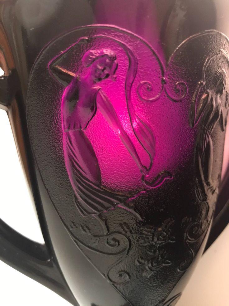 Dark purple /glass vase/ trophy vase/ vintage glass/ amethyst /grape /victorian vase/ depression glass by peaceocake on Etsy https://www.etsy.com/listing/575176762/dark-purple-glass-vase-trophy-vase