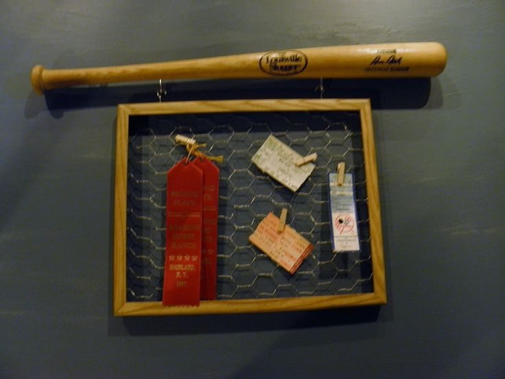A personal favorite from my Etsy shop https://www.etsy.com/listing/473651904/mini-baseball-bat-with-chicken-wire