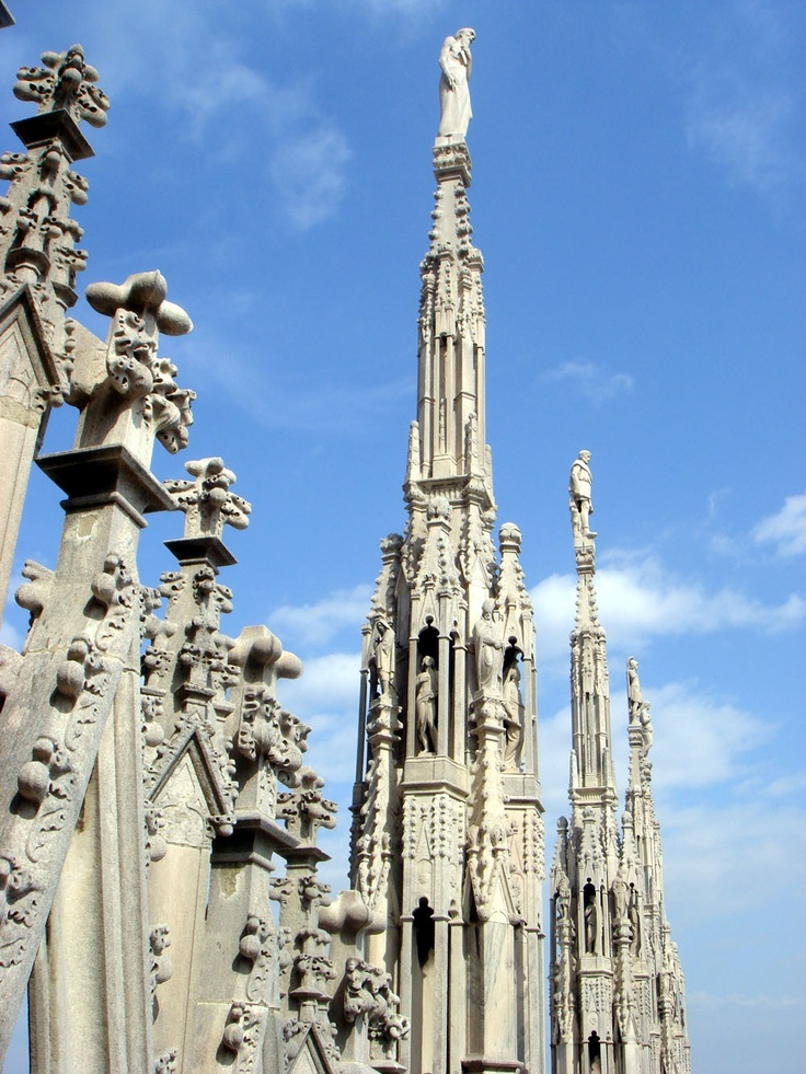 Fragment of Milan Cathedral