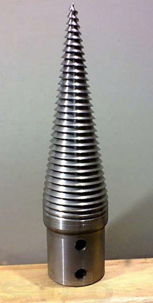 Wood splitter screw cone diameter D=80mm lenght L=280mm hardened steel