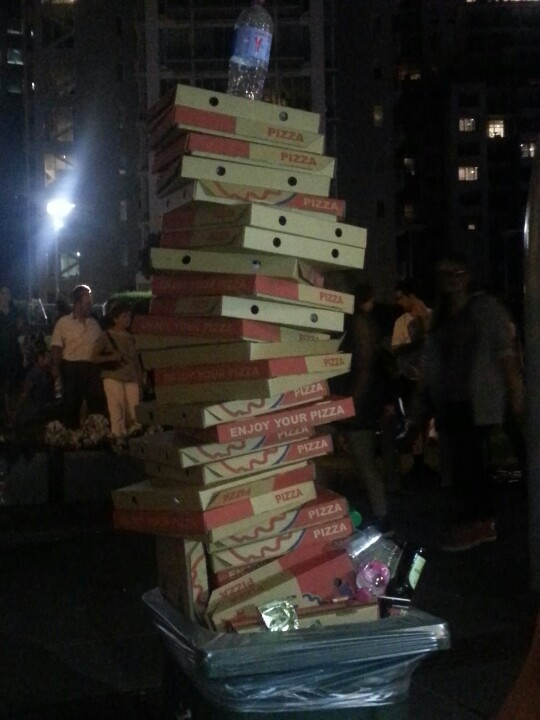 Leaning Tower of Pizza, White Night Melbourne.