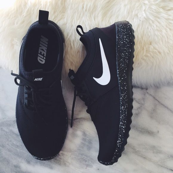 NikeID Black Fleece Juvenate Sneakers •Custom black fleece Juvenate sneakers with a speckle print sole. •Women's size 9.5, true to size. •NikeID sample from Nike HQ. New in box (no lid). •NO TRADES/PAYPAL/MERC/VINTED/NONSENSE. Nike Shoes Sneakers